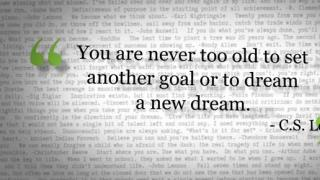 Words of Inspiration: You are never too old to...