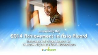 Congratulations to Dr. Yao Wang on receiving the 2014 Achievement in Asia Award from OCPA