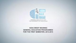 GE Programmes for the First Semester, 2014-2015