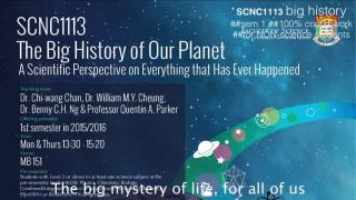 SCNC1113 The Big History of our Planet