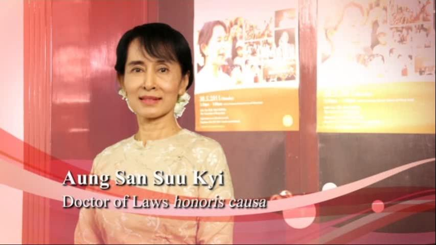 Conferment of the Honorary Degree upon Daw Aung San Suu Kyi