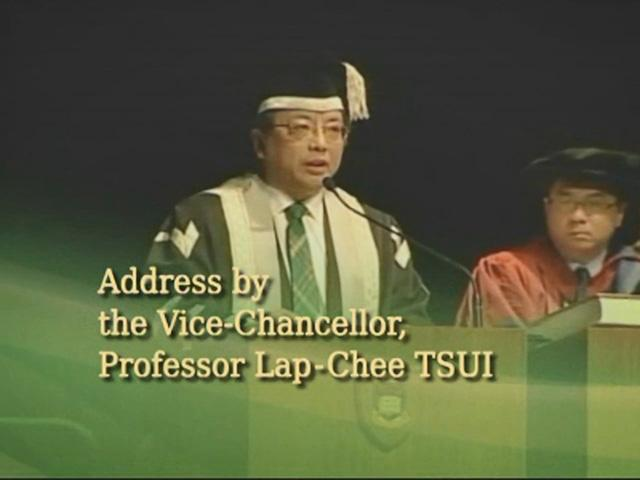 Address by the President and Vice-Chancellor Professor Lap-Chee TSUI
