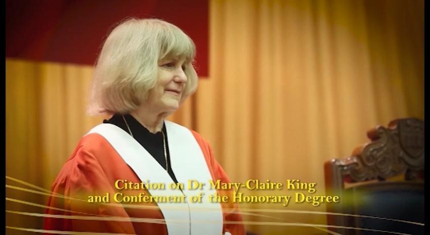 頒授名譽博士學位予瑪麗.克萊爾.金博士