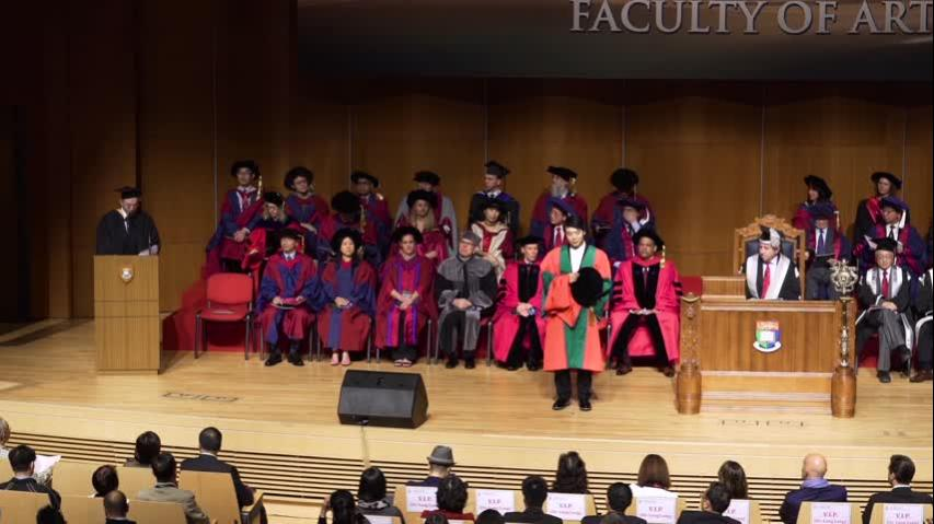 Conferment of the Honorary Degree upon Dr LANG Lang