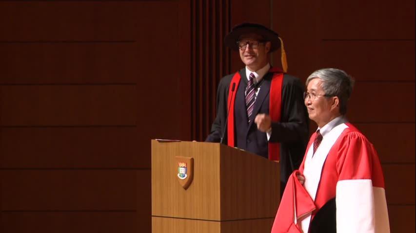 頒授名譽博士學位予鄧青雲教授