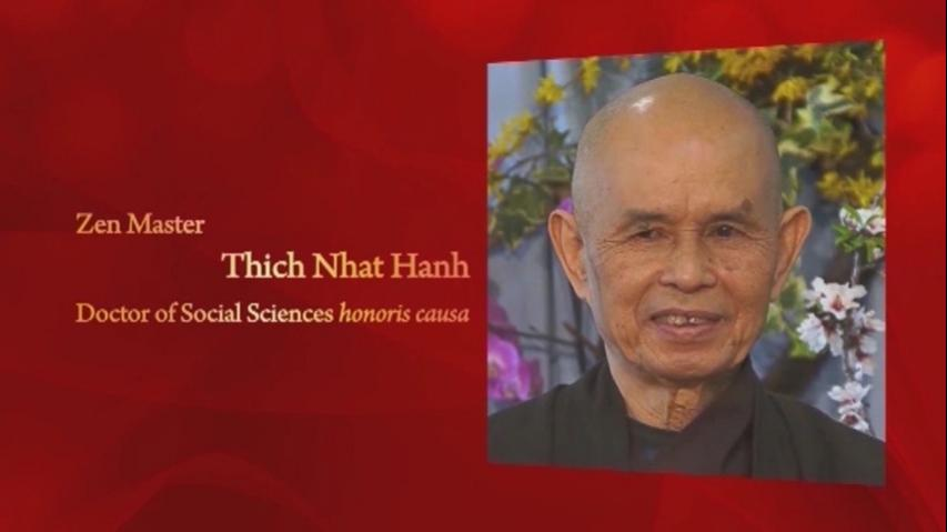 Conferment of the Honorary Degree upon Zen Master Thich Nhat Hanh