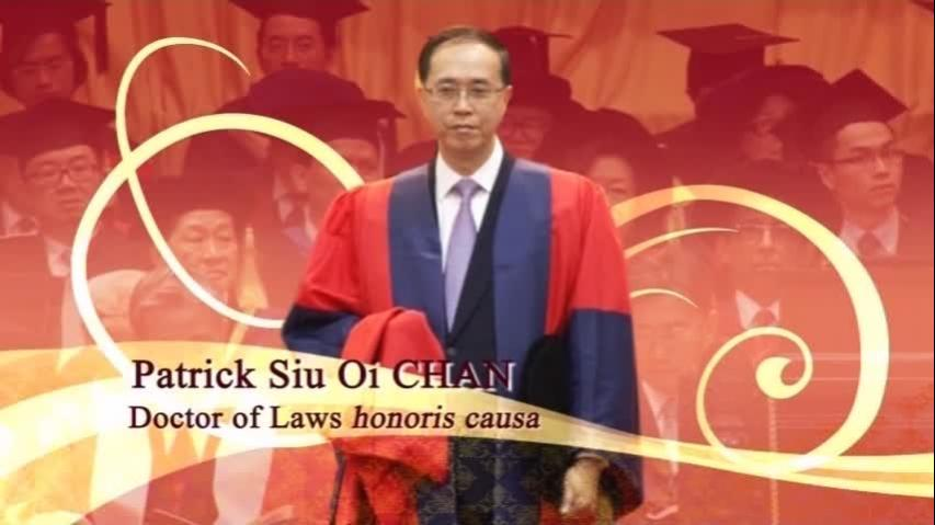 Conferment of the Honorary Degree upon Mr Justice Patrick CHAN Siu Oi
