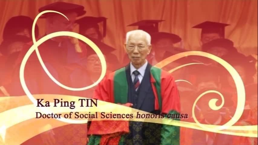 Conferment of the Honorary Degree upon Dr TIN Ka Ping