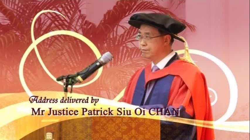Speech by Mr Justice Patrick CHAN Siu Oi and Closing of the Congregation