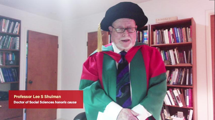 頒授名譽博士學位予李.舒爾曼教授