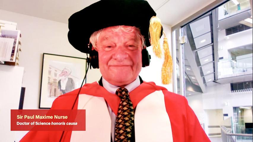 頒授名譽博士學位予保羅.麥克西姆.納斯爵士