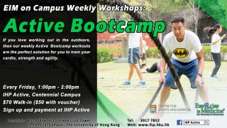 IHP Active Weekly Workshops - Active Bootcamp