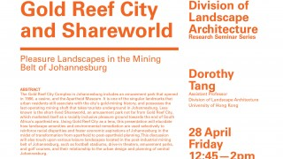 Research Seminar Series - Gold Reef City and Shareworld