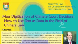 Mass Digitization of Chinese Court Decisions:  How to Use Text as Data in the Field of Chinese Law