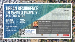"Public lecture and Elite Seminar on ""Urban Resurgence: the Making of Inequality in Global Cities"""