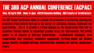 The 3rd ACP Annual Conference