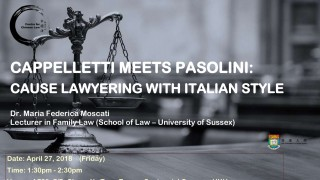 CAPPELLETTI MEETS PASOLINI: CAUSE LAWYERING WITH ITALIAN STYLE