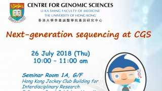 Sharing Session: Next-generation sequencing at CGS