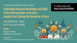 Teaching Exchange Fellowship Scheme Seminar - Embedding research knowledge and skills in the undergraduate curriculum