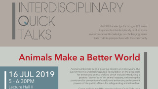 Interdisciplinary Quick Talks: Animals Make a Better World