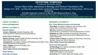 Keystone Symposium 2019 - Cancer Stem Cells: Advances in Biology and Clinical Translation (T2)