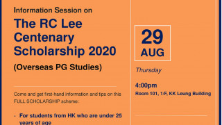 Info Session - RC Lee Centenary  Overseas PG Scholarship