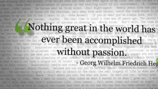 Words of Inspiration: Nothing great in the world has...
