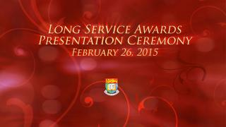 Long Service Awards 2015