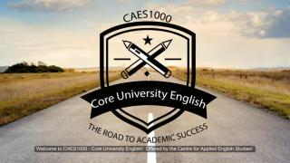 CAES1000: Core University English