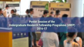 Poster Session of the Undergraduate Research Fellowship Programme 2016-17