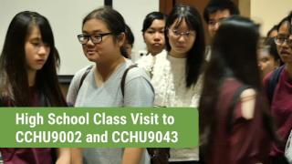 High School Class Visit to CCHU9002 & CCHU9043