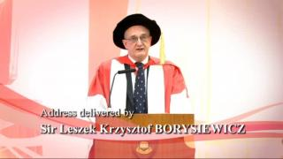 186th Congregation (2012) - Speech by Professor Sir Leszek BORYSIEWICZ