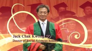 184th Congregation (2011) - Citation on Mr Jack SO Chak Kwong