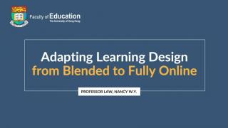 Prof Law on changing a blended course to fully online