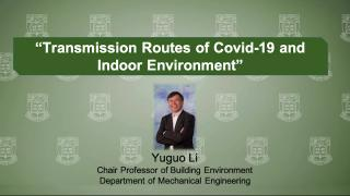 Virtual Forum on Big Ideas Combating COVID-19: Yuguo Li