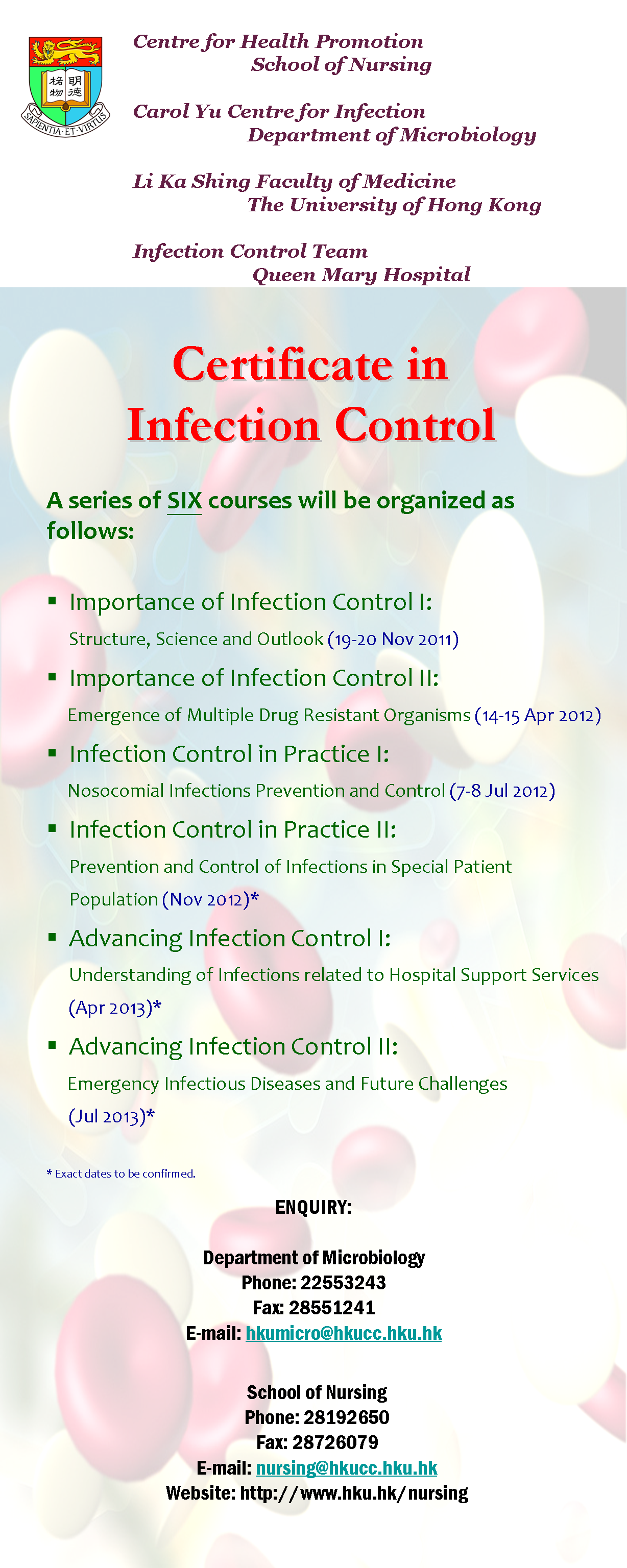 U Vision Online Certificate In Infection Control 19 20 November 2011